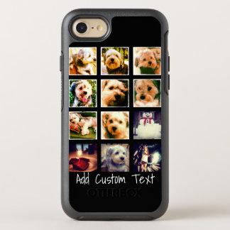 Coque Otterbox Symmetry Pour iPhone 7 Collage de photo avec l'arrière - plan noir