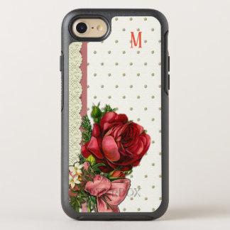 Coque Otterbox Symmetry Pour iPhone 7 Conception florale faite sur commande de texture