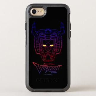 Coque Otterbox Symmetry Pour iPhone 7 Contour Bleu-Rouge de tête de gradient de Voltron