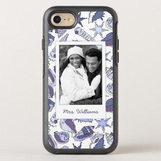 Coque Otterbox Symmetry Pour iPhone 7 Coquillages de Lavendar | votre photo et nom