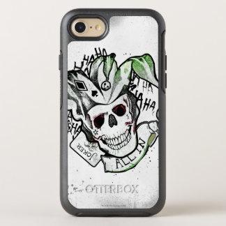 """Coque Otterbox Symmetry Pour iPhone 7 Crâne de joker du peloton   de suicide """"tout dans"""""""
