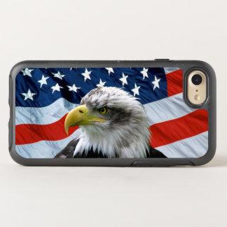 Coque Otterbox Symmetry Pour iPhone 7 Drapeau américain chauve d'Eagle