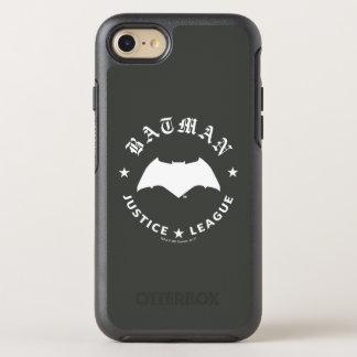 Coque Otterbox Symmetry Pour iPhone 7 Emblème de batte de la ligue de justice rétro |
