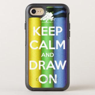 Coque Otterbox Symmetry Pour iPhone 7 Gardez le calme et dessinez sur des couleurs