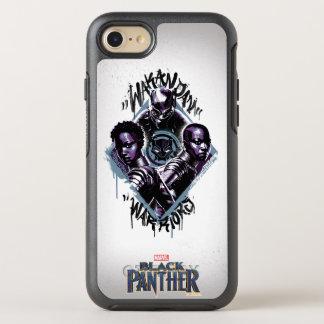 Coque Otterbox Symmetry Pour iPhone 7 Graffiti de guerriers de la panthère noire |
