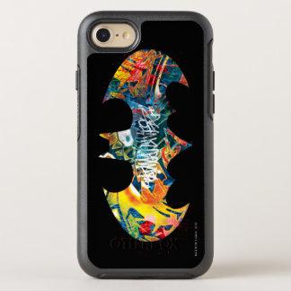 Coque Otterbox Symmetry Pour iPhone 7 Graffiti du logo Neon/80s de Batman