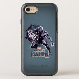Coque Otterbox Symmetry Pour iPhone 7 Graphic de guerrier de la panthère noire | du Roi