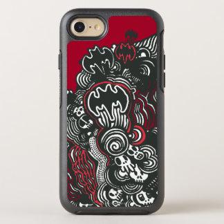 Coque Otterbox Symmetry Pour iPhone 7 Griffonnage de crânes/encre de Batman