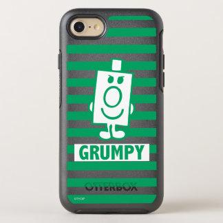 Coque Otterbox Symmetry Pour iPhone 7 Grimace malfaisante de M. Grumpy | et rayures