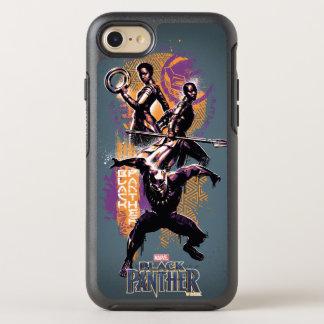 Coque Otterbox Symmetry Pour iPhone 7 Guerriers de la panthère noire | Wakandan peints