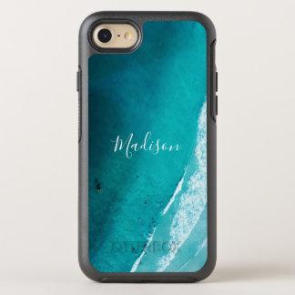 Coque Otterbox Symmetry Pour iPhone 7 La plage nommée de la fille de bleu d'océan