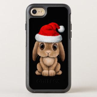 Coque Otterbox Symmetry Pour iPhone 7 Lapin de bébé utilisant un casquette de Père Noël
