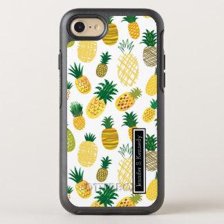 Coque Otterbox Symmetry Pour iPhone 7 Le motif à la mode   d'ananas ajoutent votre nom