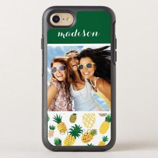 Coque Otterbox Symmetry Pour iPhone 7 Le motif à la mode   d'ananas ajoutent votre photo