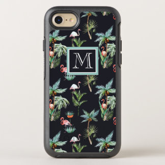 Coque Otterbox Symmetry Pour iPhone 7 Le motif | de paume d'aquarelle ajoutent votre