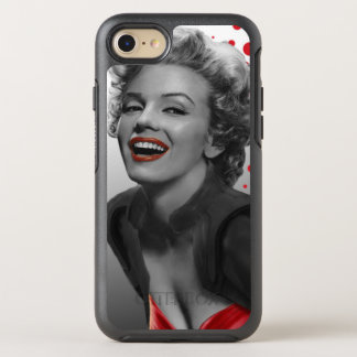 Coque Otterbox Symmetry Pour iPhone 7 Le rouge pointille Marilyn