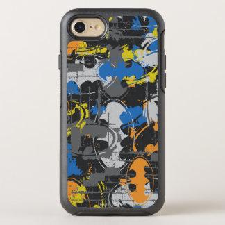 Coque Otterbox Symmetry Pour iPhone 7 Légendes urbaines de Batman - bleu grunge/orange