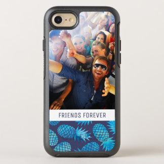Coque Otterbox Symmetry Pour iPhone 7 Les ananas bleus de colorant de cravate   ajoutent