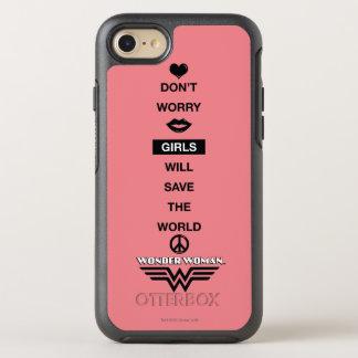 Coque Otterbox Symmetry Pour iPhone 7 Les filles sauveront le graphique de femme de