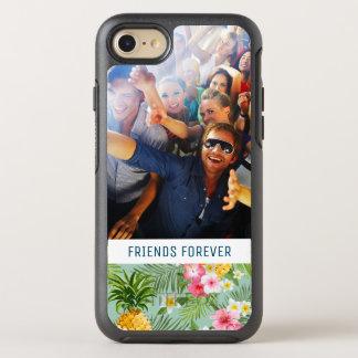 Coque Otterbox Symmetry Pour iPhone 7 Les fleurs et les ananas   ajoutent votre photo et