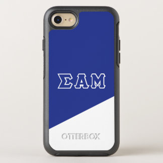 Coque Otterbox Symmetry Pour iPhone 7 Lettres de Grec de la MU | d'alpha de sigma