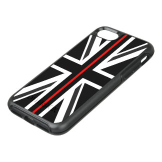 Coque Otterbox Symmetry Pour iPhone 7 Ligne rouge mince drapeau du R-U
