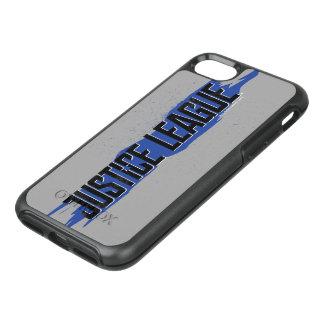 Coque Otterbox Symmetry Pour iPhone 7 Logo bleu de ligue de justice de course de la