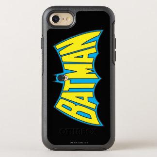 Coque Otterbox Symmetry Pour iPhone 7 Logo bleu jaune vintage de Batman |