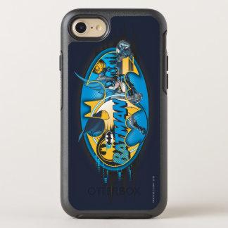 Coque Otterbox Symmetry Pour iPhone 7 Logo classique de collage du symbole | de Batman