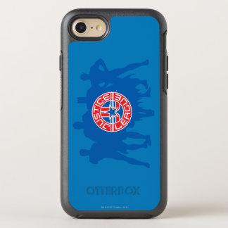 Coque Otterbox Symmetry Pour iPhone 7 Logo de ligue de justice et arrière - plan solide