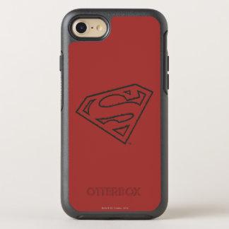 Coque Otterbox Symmetry Pour iPhone 7 Logo grunge latéral du S-Bouclier | de Superman