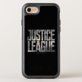 Coque Otterbox Symmetry Pour iPhone 7 Logo métallique de ligue de justice de la ligue de