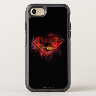 Coque Otterbox Symmetry Pour iPhone 7 Logo peint par | de S-Bouclier de Superman