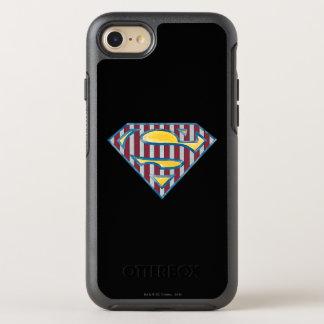 Coque Otterbox Symmetry Pour iPhone 7 Logo rayé du S-Bouclier | de Superman