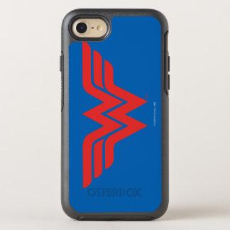 Coque Otterbox Symmetry Pour iPhone 7 Logo rouge de femme de merveille