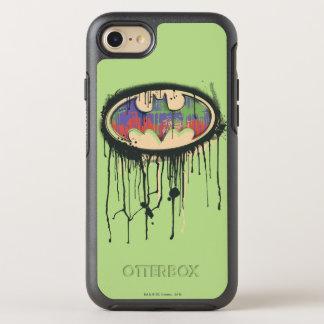 Coque Otterbox Symmetry Pour iPhone 7 Logo rouge pourpre vert 2 du symbole | de Batman