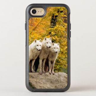Coque Otterbox Symmetry Pour iPhone 7 Loup blanc - loup de neige - animal de loup