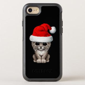 Coque Otterbox Symmetry Pour iPhone 7 Lynx mignon CUB utilisant un casquette de Père