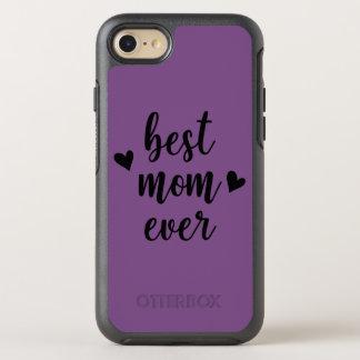 Coque Otterbox Symmetry Pour iPhone 7 Maman violette pourpre d'arrière - plan