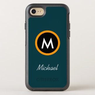 Coque Otterbox Symmetry Pour iPhone 7 Modèle Neoteric de nom de monogramme