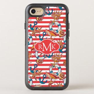 Coque Otterbox Symmetry Pour iPhone 7 Monogramme à la mode du motif | de plage