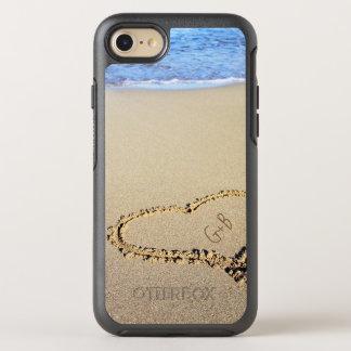 Coque Otterbox Symmetry Pour iPhone 7 Monogramme de coeur de plage