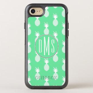 Coque Otterbox Symmetry Pour iPhone 7 Monogramme du motif   de menthe d'ananas