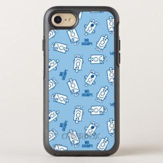 Coque Otterbox Symmetry Pour iPhone 7 Motif bleu de lancer d'émotion de M. Grumpy |