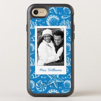 Coque Otterbox Symmetry Pour iPhone 7 Motif bleu | de plage votre photo et nom
