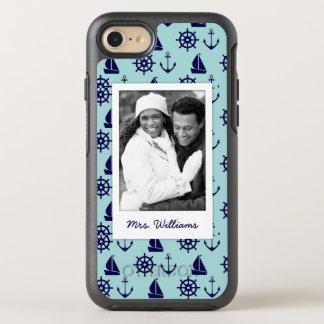 Coque Otterbox Symmetry Pour iPhone 7 Motif | de bord de la mer votre photo et nom