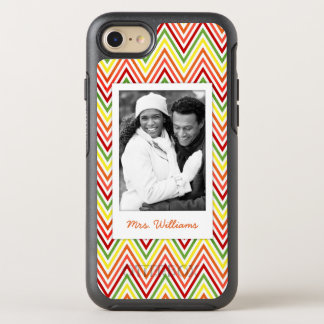 Coque Otterbox Symmetry Pour iPhone 7 Motif de photo et de Chevron de zigzag de nom