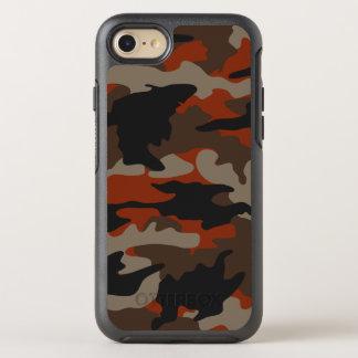 Coque Otterbox Symmetry Pour iPhone 7 Motif orange de camouflage de Camo de couleur