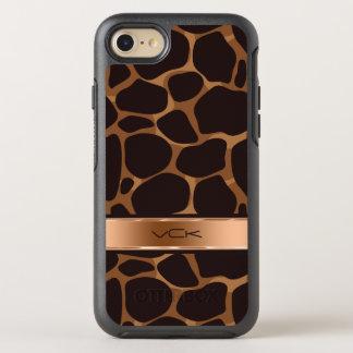 Coque Otterbox Symmetry Pour iPhone 7 Motif stylisé moderne de cuivre de léopard de