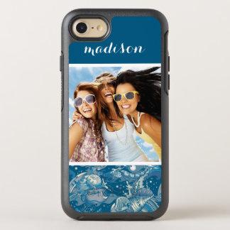 Coque Otterbox Symmetry Pour iPhone 7 Motif tropical | de mer votre photo et nom